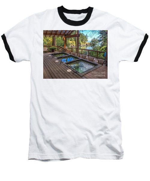 Soak In Doe Bay Baseball T-Shirt by William Wyckoff