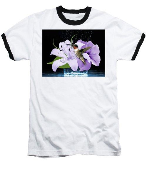 Baseball T-Shirt featuring the mixed media Soaring Hummingbird by Marvin Blaine
