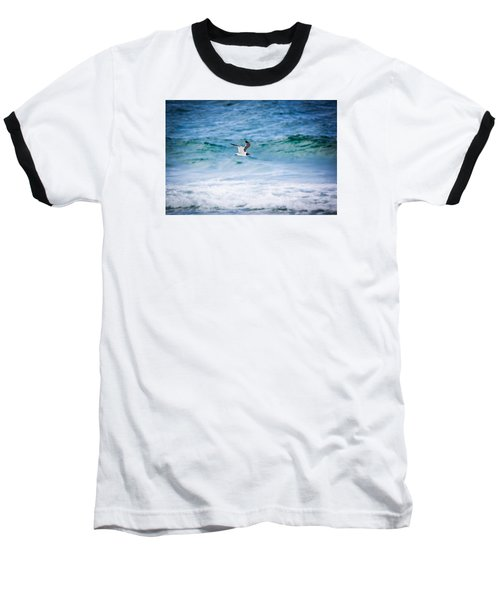 Soaring Over The Ocean Baseball T-Shirt by Shelby Young