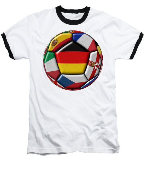 Soccer Ball With Flag Of German In The Center Baseball T-Shirt