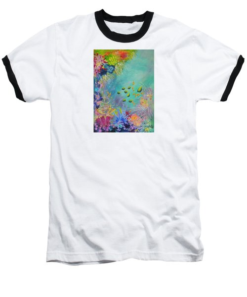 Soft And Hard Reef Corals Baseball T-Shirt by Lyn Olsen