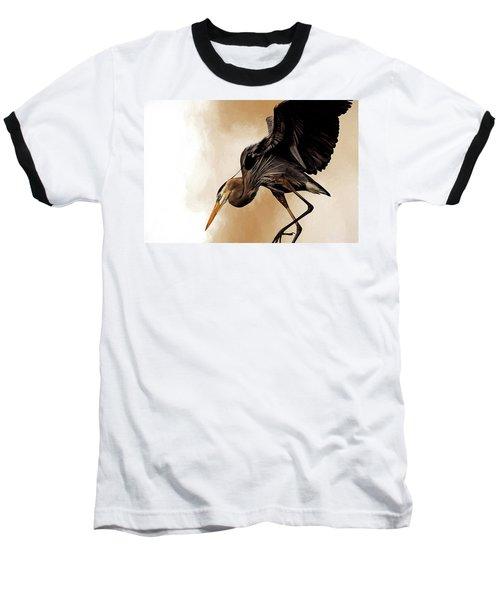 Soft Landing Baseball T-Shirt by Cyndy Doty