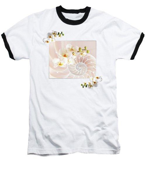 Soft Pink Fusion Baseball T-Shirt