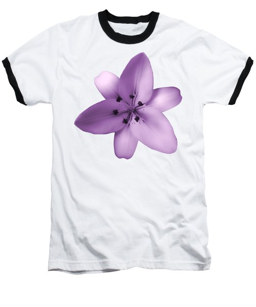 Soft Purple Creme Lily Baseball T-Shirt