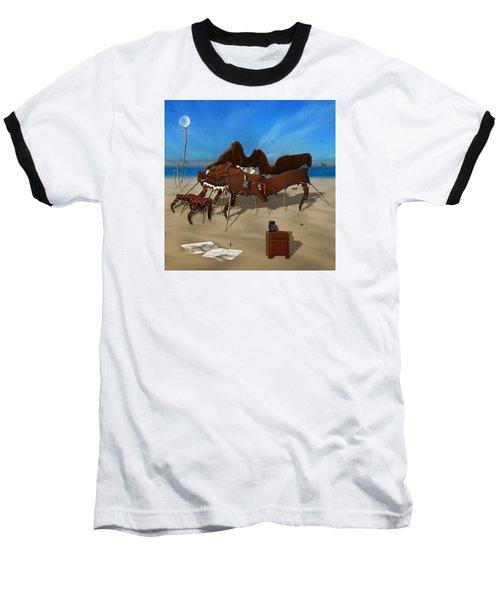 Softe Grand Piano Se Sq Baseball T-Shirt by Mike McGlothlen