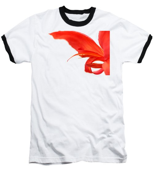 Softly Red Canna Lily Baseball T-Shirt