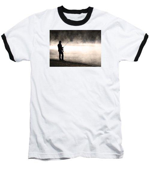Solitude Baseball T-Shirt by Stephen Flint