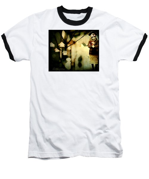 Baseball T-Shirt featuring the digital art Some Days Are Like That by Delight Worthyn