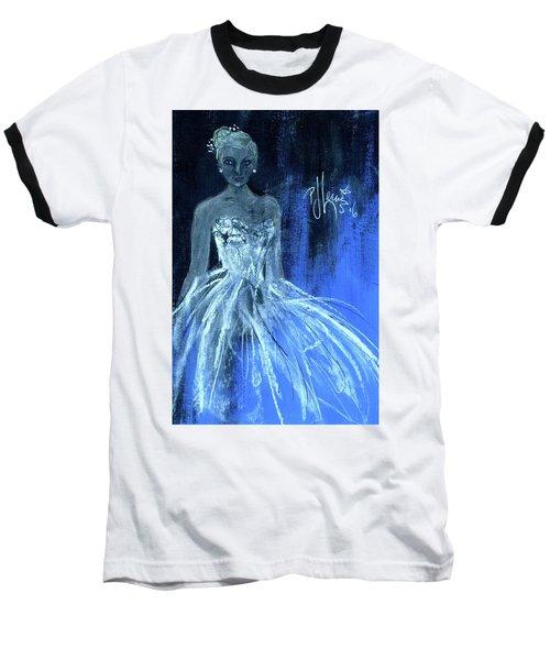 Something Blue Baseball T-Shirt by P J Lewis