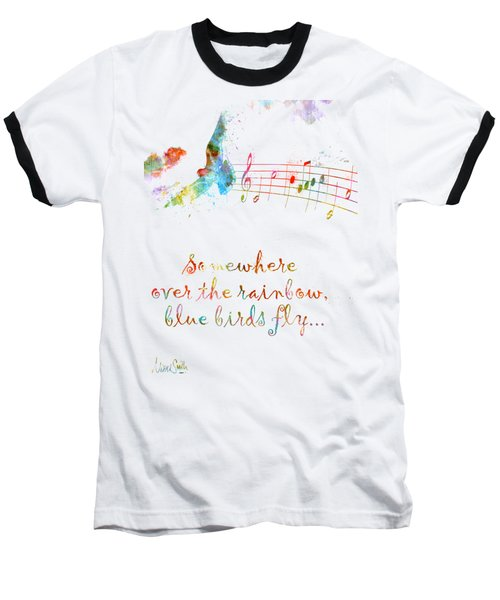 Baseball T-Shirt featuring the digital art Somewhere Over The Rainbow by Nikki Smith