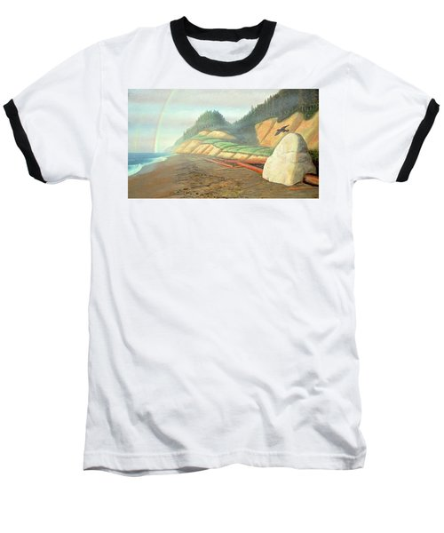 Baseball T-Shirt featuring the painting Song For My Brother by Laurie Stewart