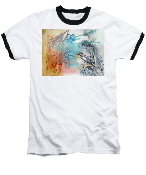 Baseball T-Shirt featuring the mixed media Song Of Life  by Rose Legge