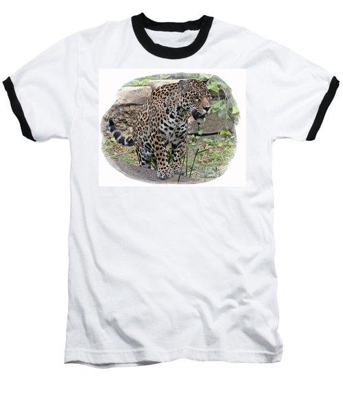 South American Jaguar Baseball T-Shirt