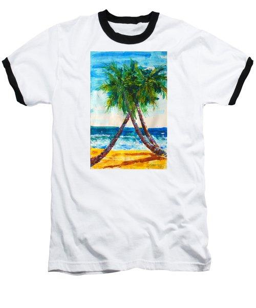 South Beach Palms Baseball T-Shirt