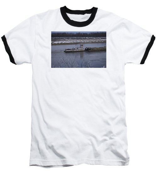 Baseball T-Shirt featuring the photograph Southbound Barges by Jane Eleanor Nicholas
