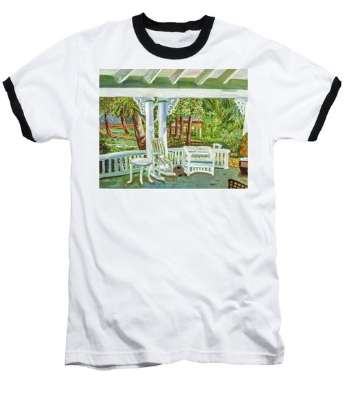 Baseball T-Shirt featuring the painting Southern Porches by Margaret Harmon
