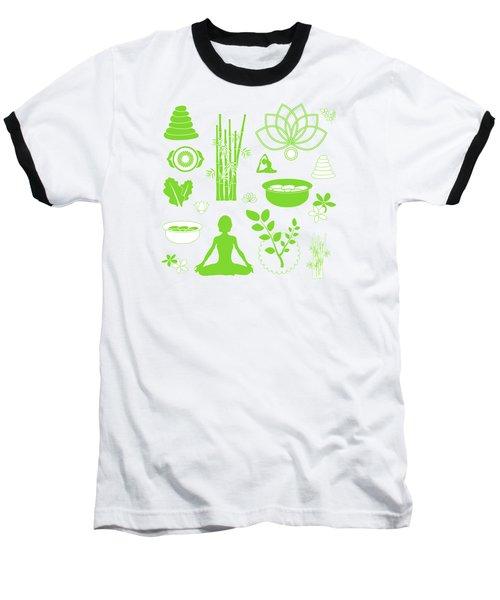 Spa Meditation Background Baseball T-Shirt by Serena King