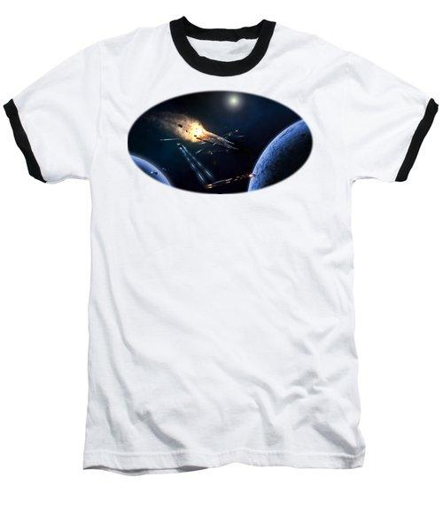 Space Battle I Baseball T-Shirt