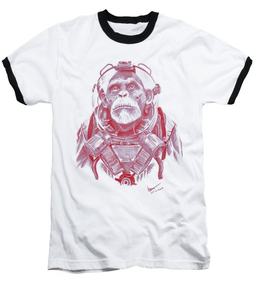 Space Chimp Baseball T-Shirt