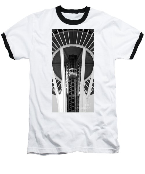 Baseball T-Shirt featuring the photograph Space Needle Seattle by Chris Dutton