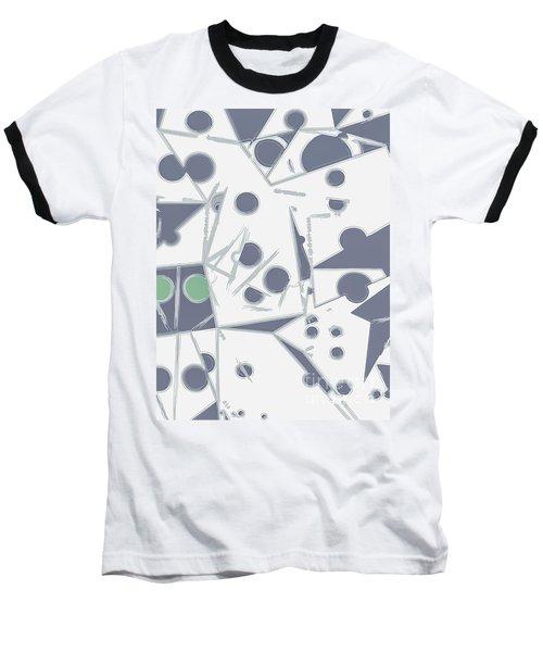 Space Warp  Baseball T-Shirt by Moustafa Al Hatter