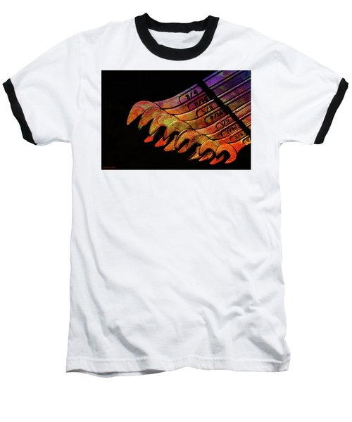Spanners 01 Baseball T-Shirt by Kevin Chippindall