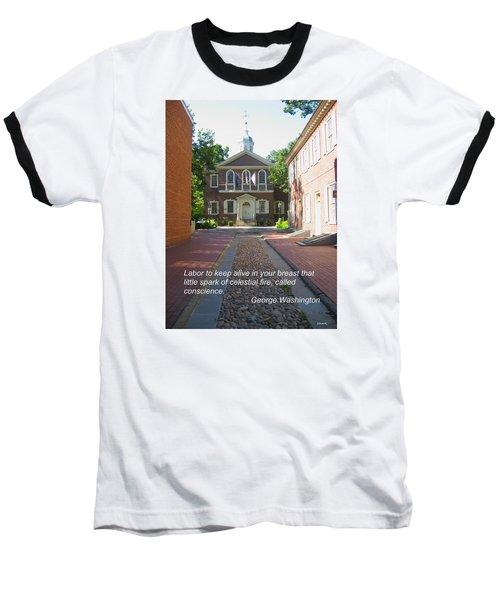 Spark Of Celestial Fire Baseball T-Shirt by Deborah Dendler