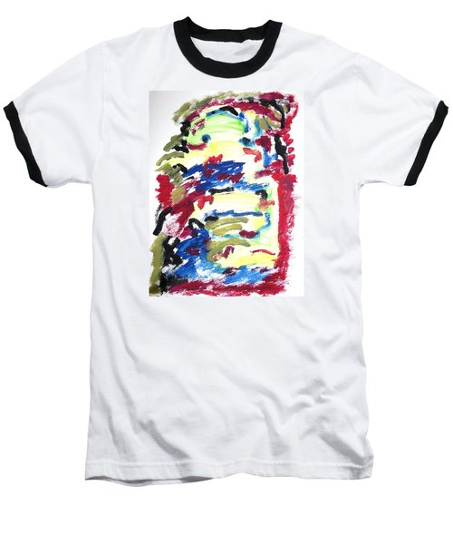 Spatial Outwardness Baseball T-Shirt by Esther Newman-Cohen