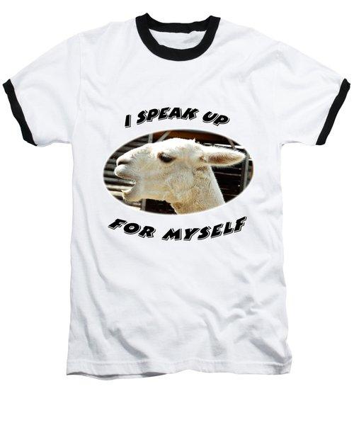 Speak Up Baseball T-Shirt by Judi Saunders