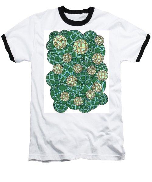 Spheres Cluster Green Baseball T-Shirt