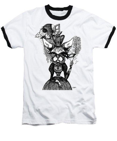 Sphynx Queen Baseball T-Shirt by Akiko Okabe