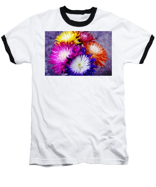 Spider Mums Baseball T-Shirt