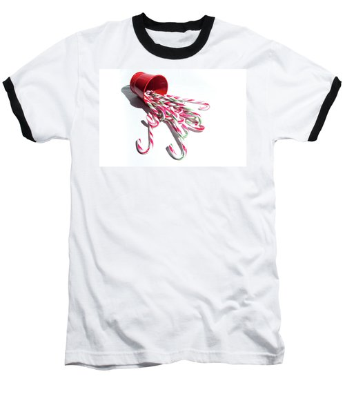 Spilled Candy Canes Baseball T-Shirt