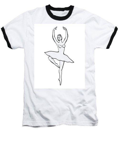 Spinning Ballerina Silhouette Baseball T-Shirt