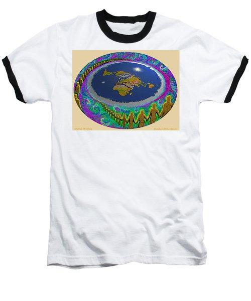 Spiral Of Souls Flat Earth Baseball T-Shirt