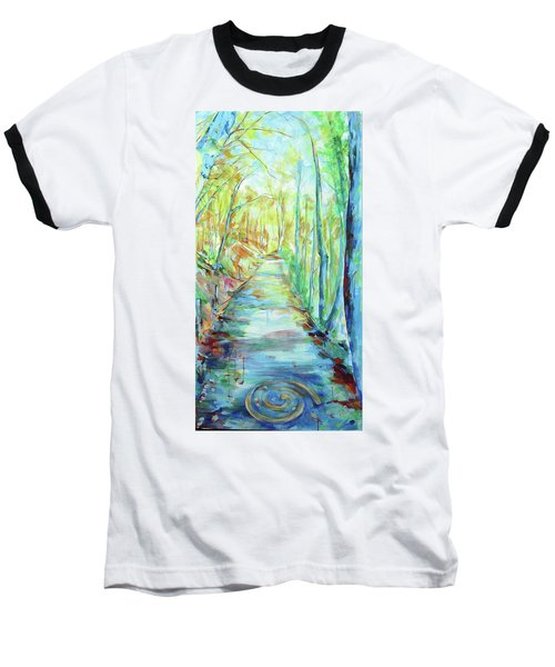 Baseball T-Shirt featuring the painting Spirale - Spiral by Koro Arandia