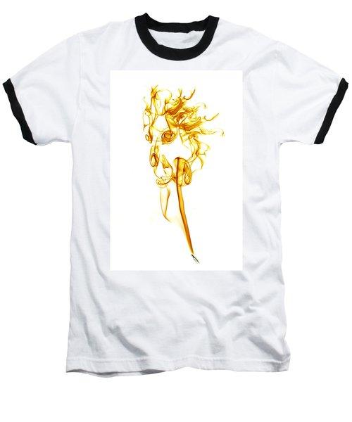 Ghostly Smoke - Orange Baseball T-Shirt