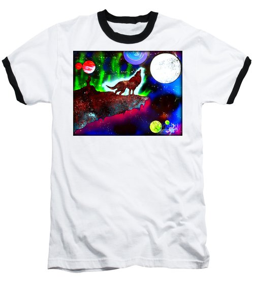 Spirit Of The Wolf Vibrant Baseball T-Shirt by Justin Moore