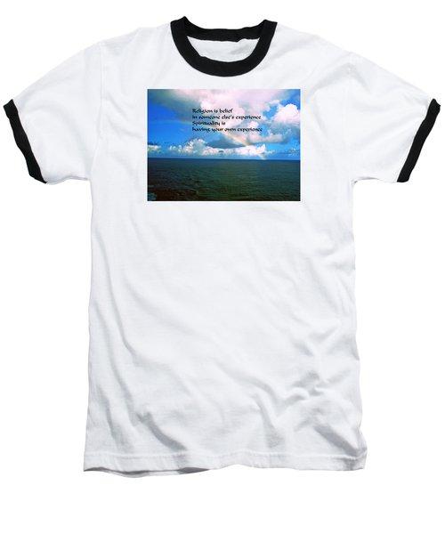 Baseball T-Shirt featuring the photograph Spiritual Belief by Gary Wonning