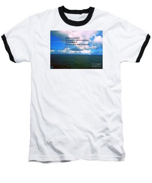 Baseball T-Shirt featuring the photograph Spirituality by Gary Wonning