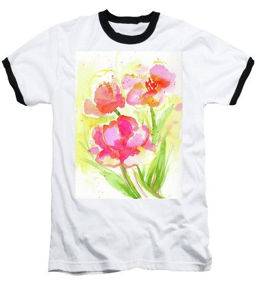 Splash Of Pinks  Baseball T-Shirt