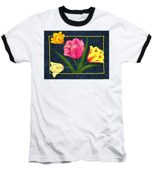 Splash Of Tulips Baseball T-Shirt