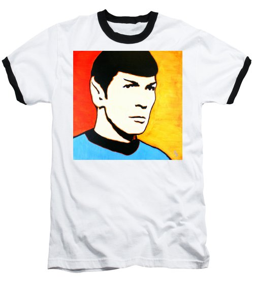 Spock Vulcan Star Trek Pop Art Baseball T-Shirt by Bob Baker