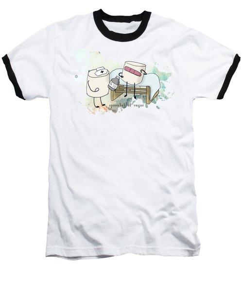 Spoonful Of Sugar Words Illustrated  Baseball T-Shirt