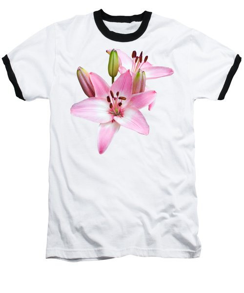 Baseball T-Shirt featuring the photograph Spray Of Pink Lilies by Jane McIlroy