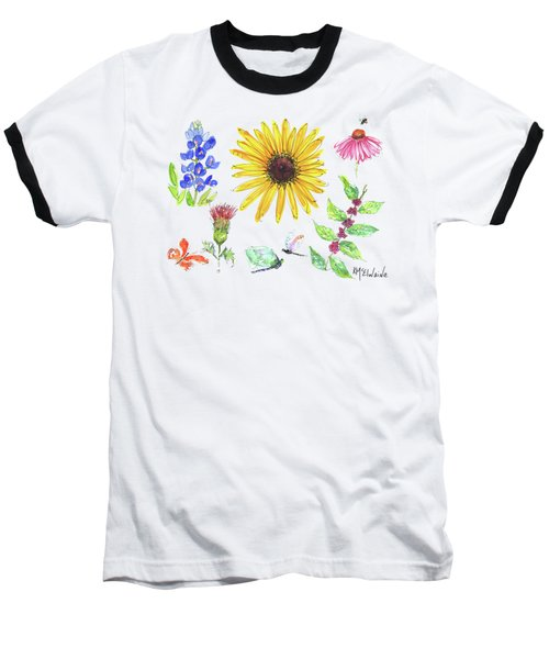 Spring 2017 Medley Watercolor Art By Kmcelwaine Baseball T-Shirt by Kathleen McElwaine