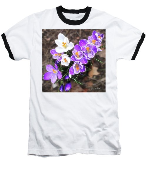 Spring Beauties Baseball T-Shirt by Terri Harper