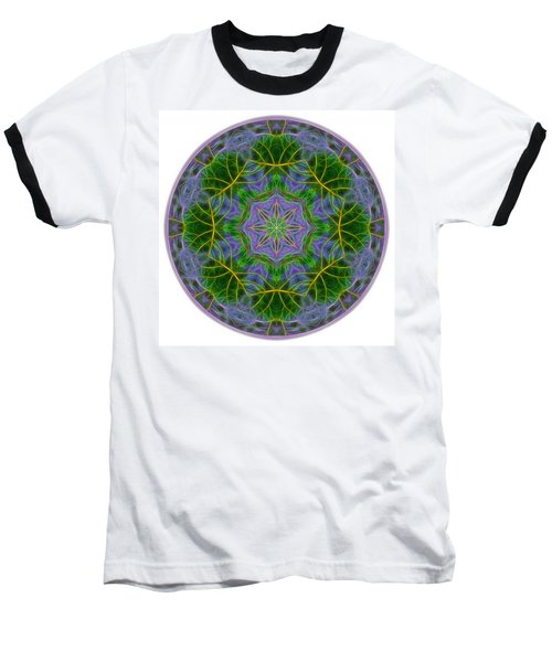 Spring Bloom Colors Mandala Baseball T-Shirt