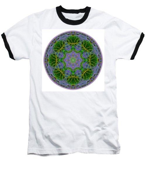 Spring Bloom Colors Mandala Baseball T-Shirt