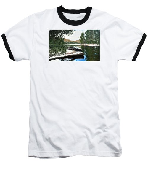 Baseball T-Shirt featuring the painting Spring Breakup by Kenneth M Kirsch